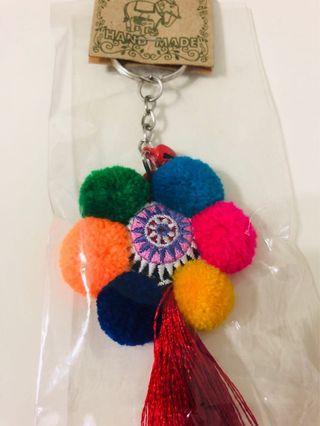 泰國絨球鑰匙圈 - 紅版