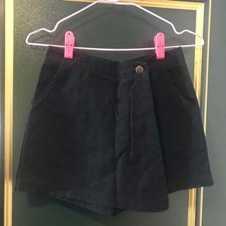 韓系黑色褲裙