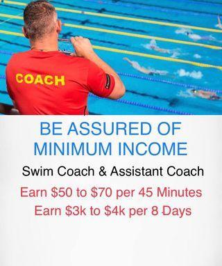 Children Swimming Coach Teacher As An Extra Income