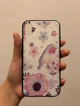 iPhone X case - birds and flowers