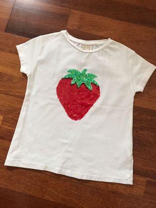 Zara Girls sequins T-shirt