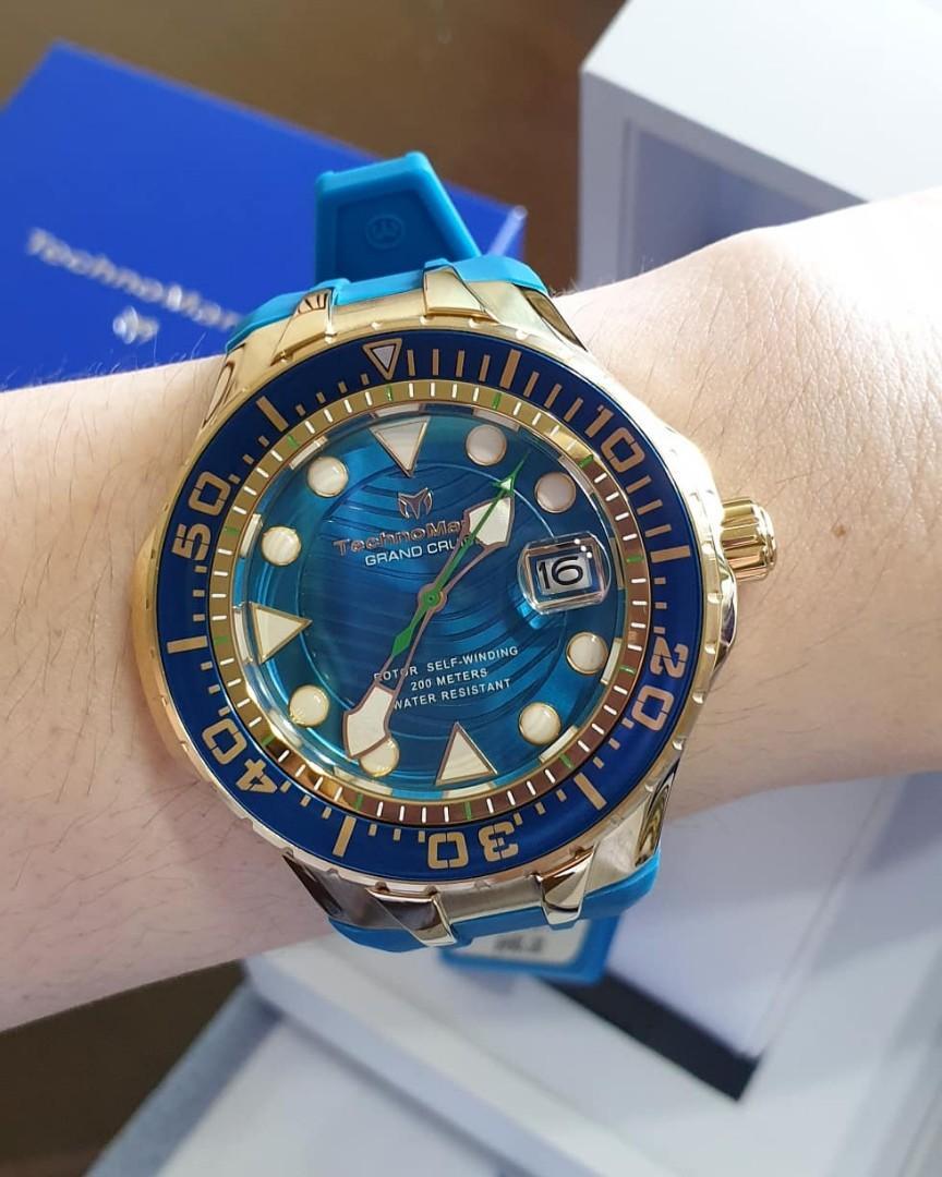 100% Authentic TECHNOMARINE 48mm Grand Cruise Blue Reef Blue ...
