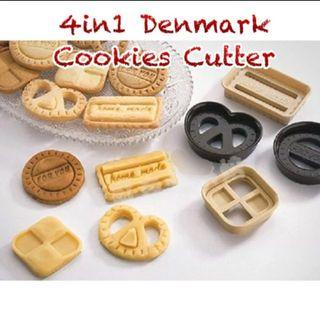 CC025 4pcs Denmark Cookies Cutter (Mold DIY Tools Easy To Use)