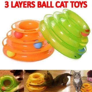 TPE067 Cat Toy 3 Layers For Cats & Kitten (Fun Play Healthy)
