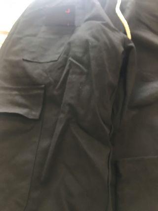 工裝黑長褲