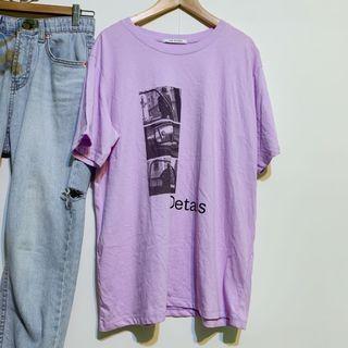 正韓 全新*好氣色粉紫寬鬆T恤