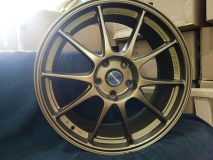 18X8.0 5X114.3 ET40 one set with tyre made in Thailand