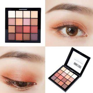 16 colours eyeshadow pearl matte palette