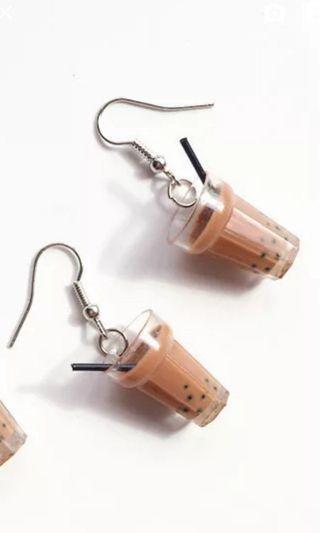 Bubble Tea Earrings Boba Cute