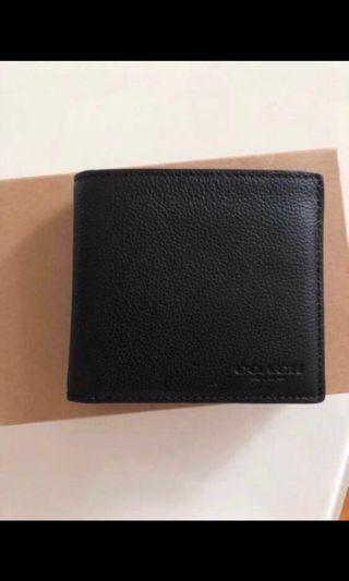 BNWT Coach double billfold wallet