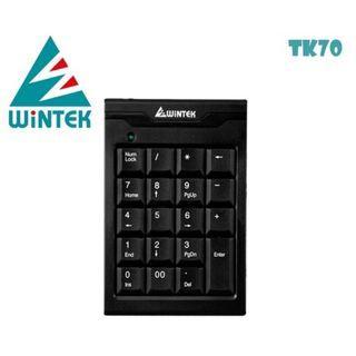 WINTEK文鎧 USB超薄數字鍵盤TK70