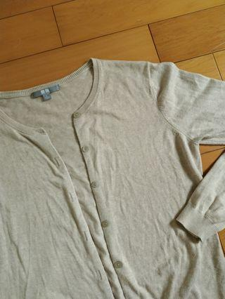 Uniqlo 近全新薄針織小外套