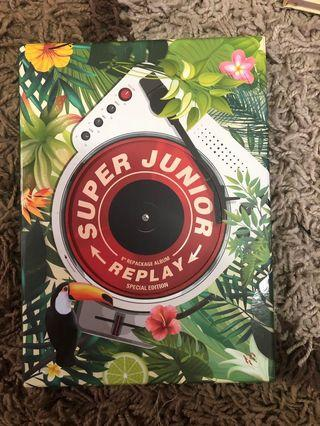 {WTS}SUPER JUNIOR REPACKAGE ALBUM (REPLAY)SPECIAL EDITION