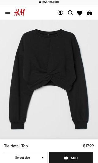 [h&m] reprice black sweater tied