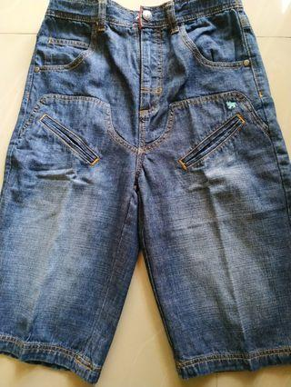 Celana  pendek 3/4 Giordano Junior denim