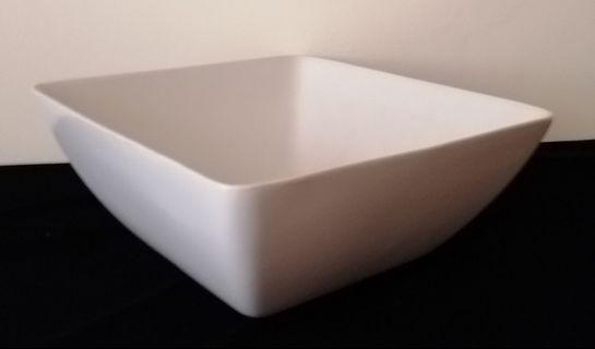 "10"" Square White Bowl"