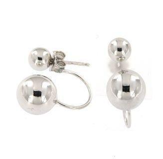 Double Ball Heather Earrings