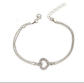 Heart Pavè Sterling Silver bracelet