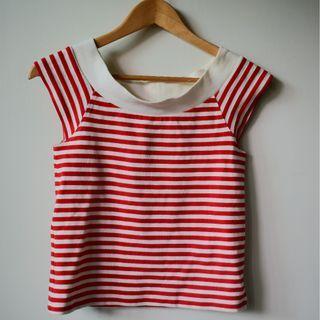 【SLY】紅白條紋多穿法上衣