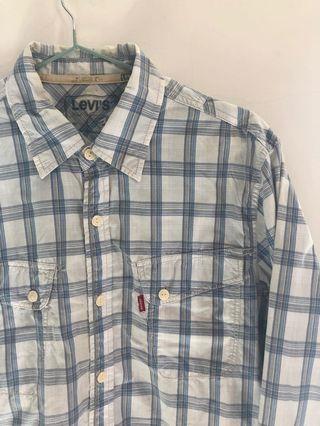 Levi's 長袖襯衫  正面口袋 背面都有縫線設計