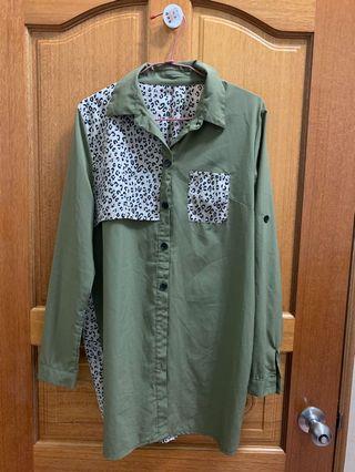 綠豹紋襯衫