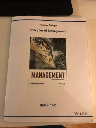 Principles of Management- Humber College