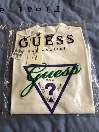 Guess Women's Turtle Neck Slim Fit Top T Shirt Tee