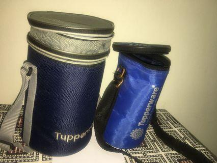 Tupperware bags - tiffin and water bottle