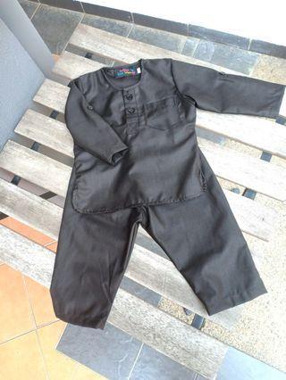 Baju Melayu Baby Hitam / Black