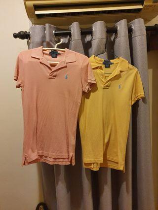 2x Genuine Ralph Lauren Polo Shirt Women XS