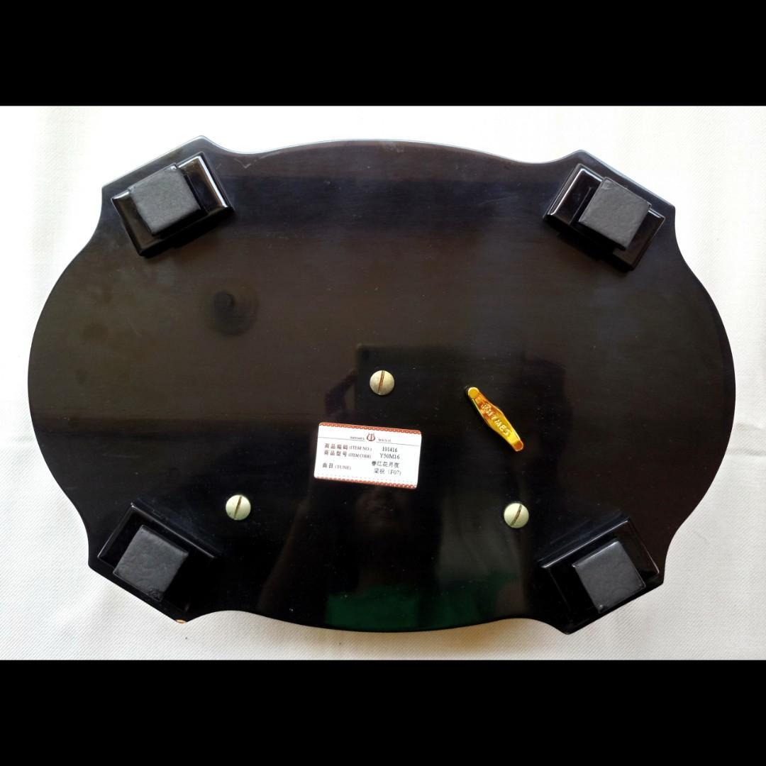 降!梁祝/春江花月夜木製雕花音樂盒