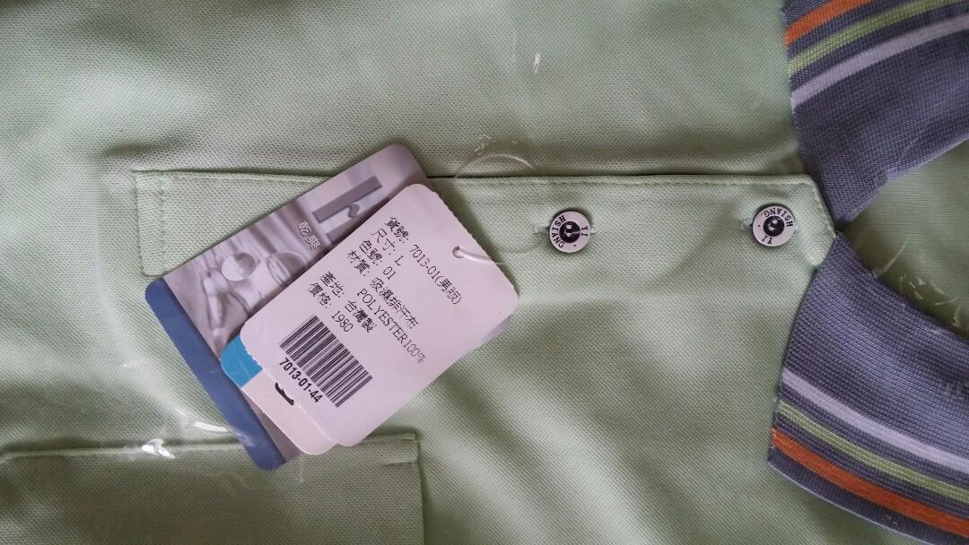 全新 男 女 情侶款 休閒 排汗衫 polo衫 上衣 L