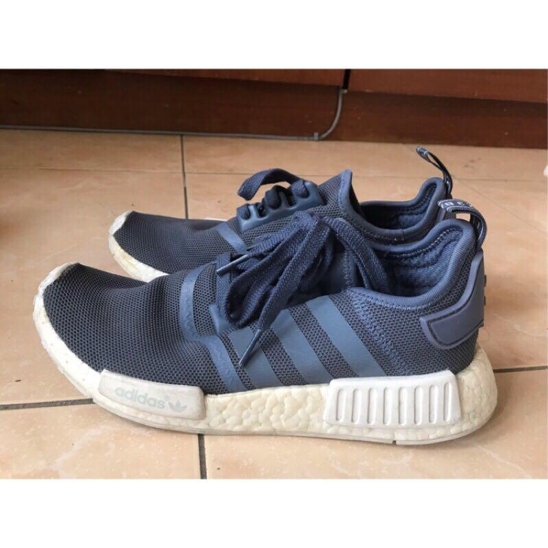 Adidas nmd r1 24.5 藍色 二手正品