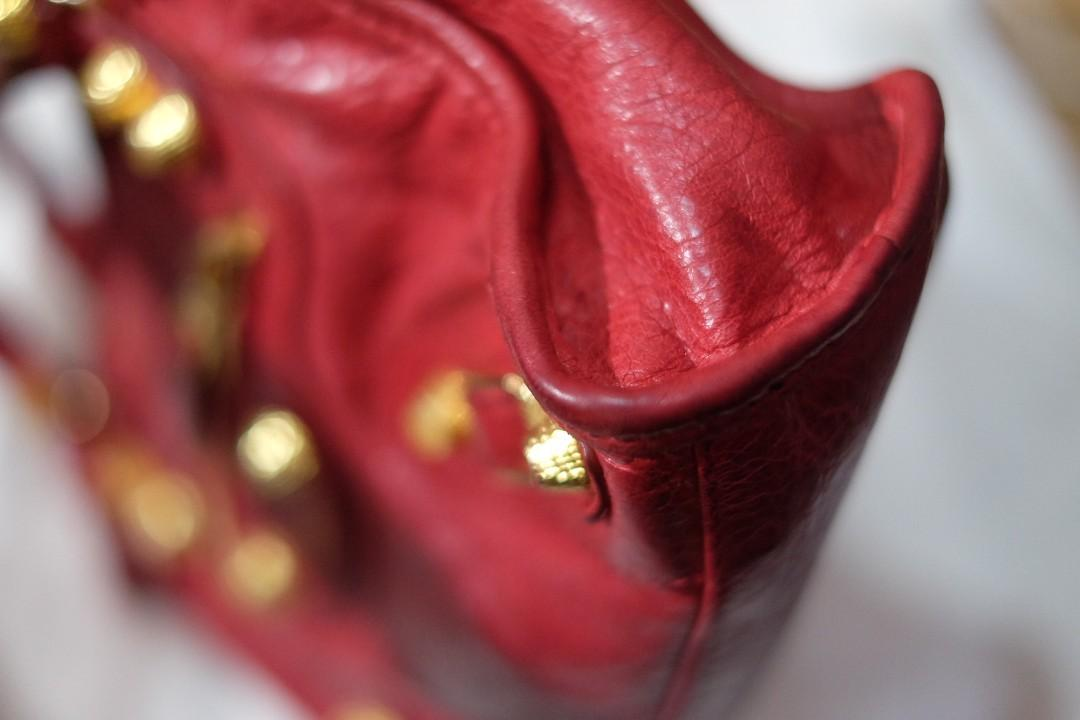 REPRICE // FOR SALE - [Pre-owned] Balenciaga Mini City Rouge Cardinal GHW 2016