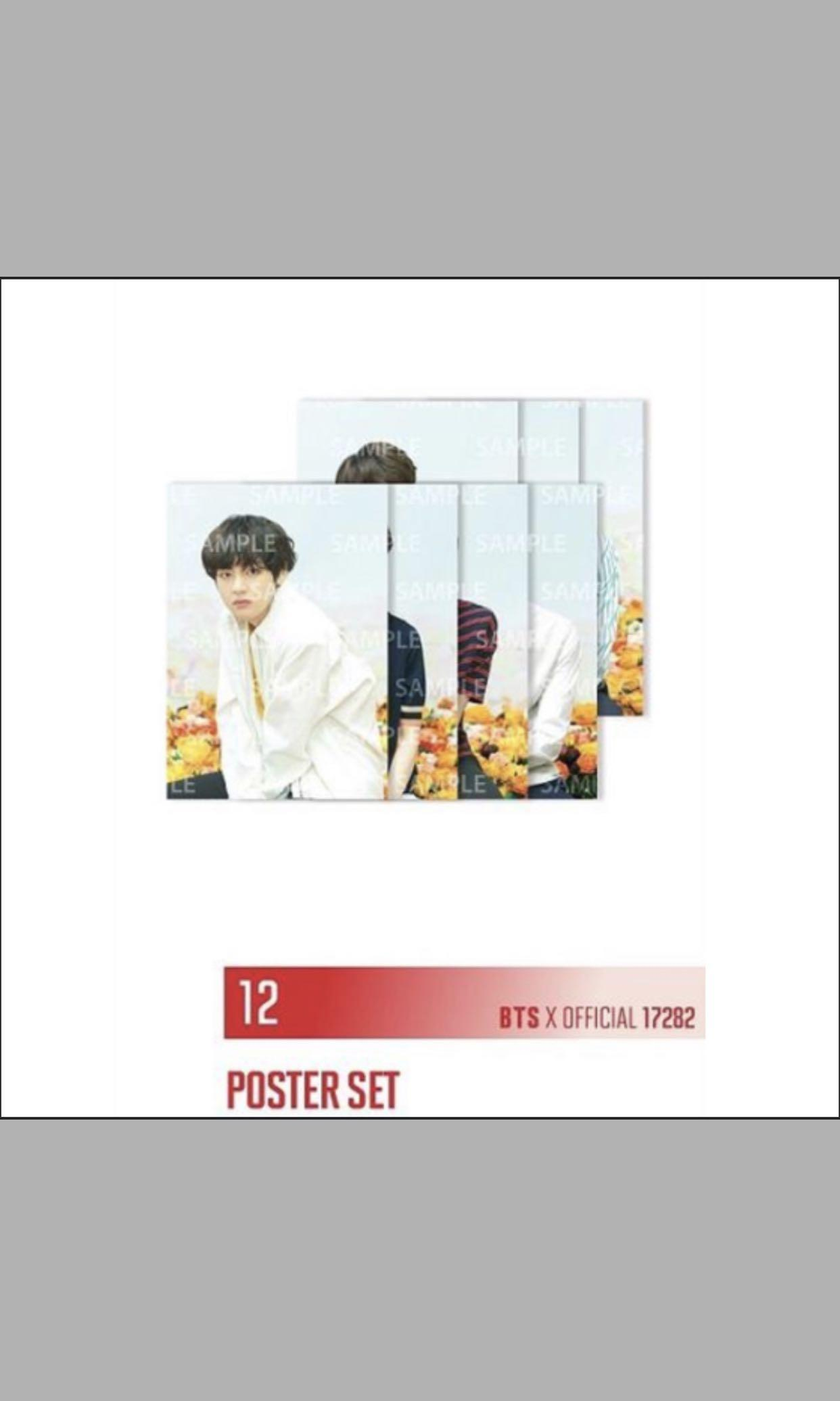 BTS LOVE YOURSELF TOUR INDIVIDUAL POSTER JAPAN VERSION OFFICIAL