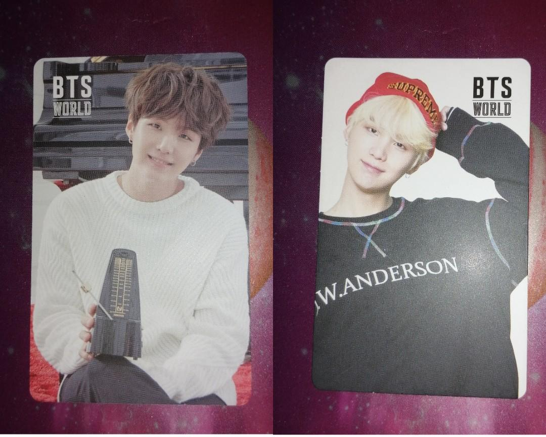 BTS WORLD OST SUGA OFFICIAL DOUBLE SIDED PHOTOCARD