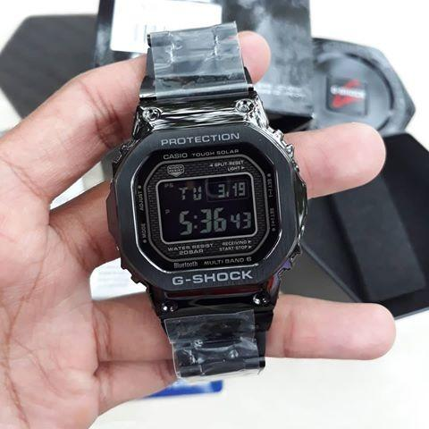 Casio BLUETOOTH GMW-B5000GD-1DR G-Shock Digital Sporty Design Classic Black Stainless Steel Strap Original Watch GMW-B5000GD