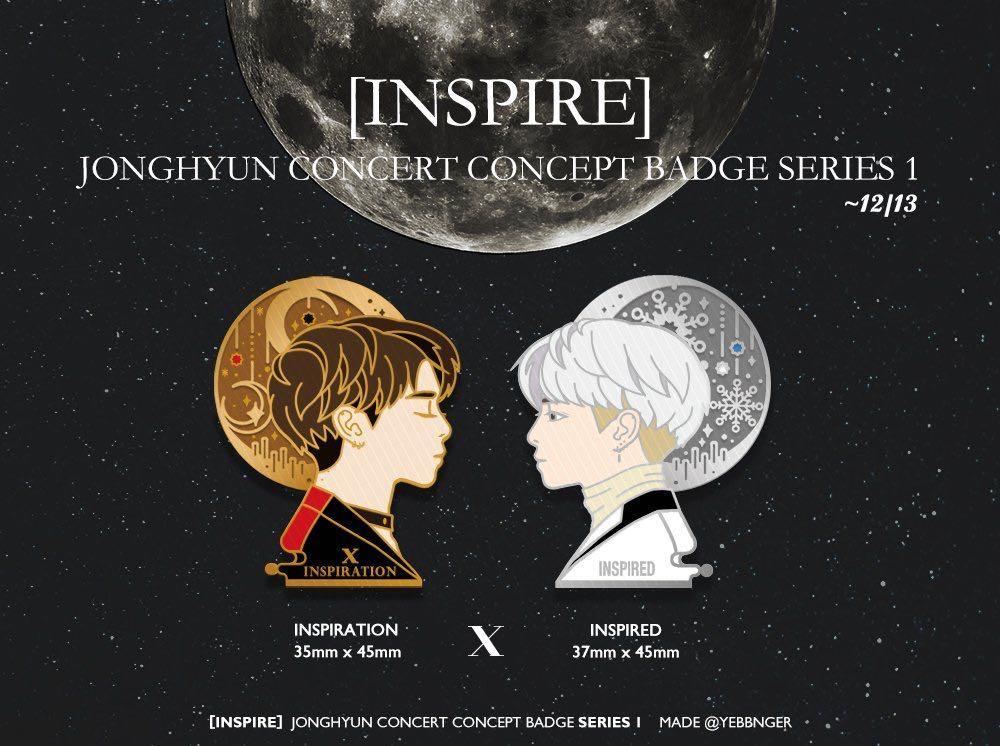 [Checking interest] Inspire Jonghyun Concert Concept Badge (Inspiration X Inspired)