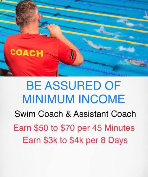 Children Swimming Coach Teacher As An Extra Income