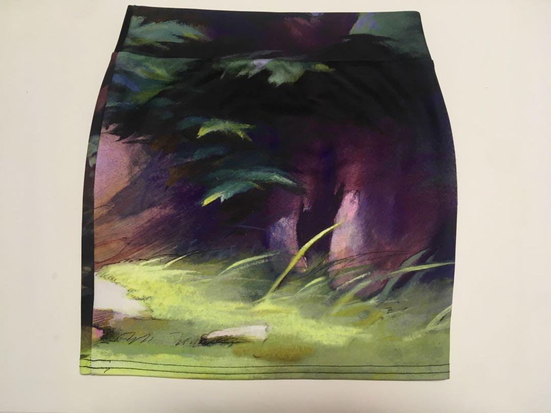 Disney's Bambi Thumper Flower Butterfly Contour Pencil Skirt