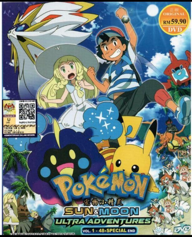 DVD Anime Pokemon Sun & Moon (ULTRA ADVENTURES) Vol. 1-48 + Special END