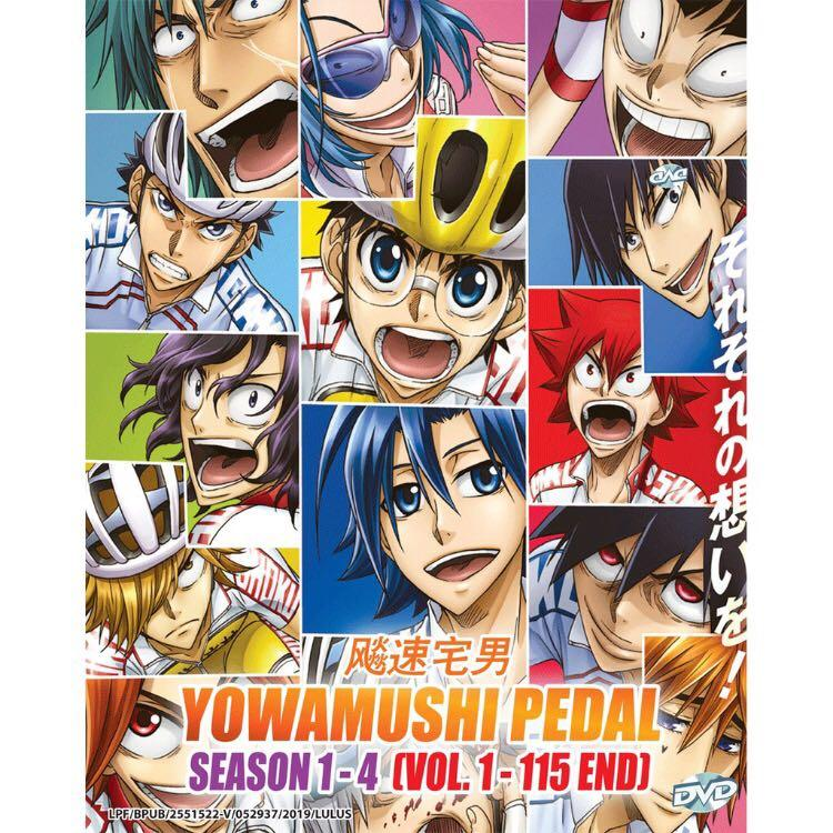 DVD Anime YOWAMUSHI PEDAL Season 1-4 Vol. 1-115 END