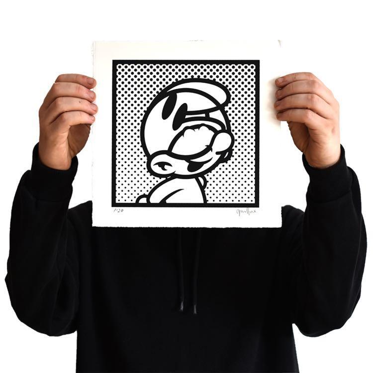 Grafflex - PLNT Murf Limited Edition of 20 Art Print 全球限量20張 藍精靈