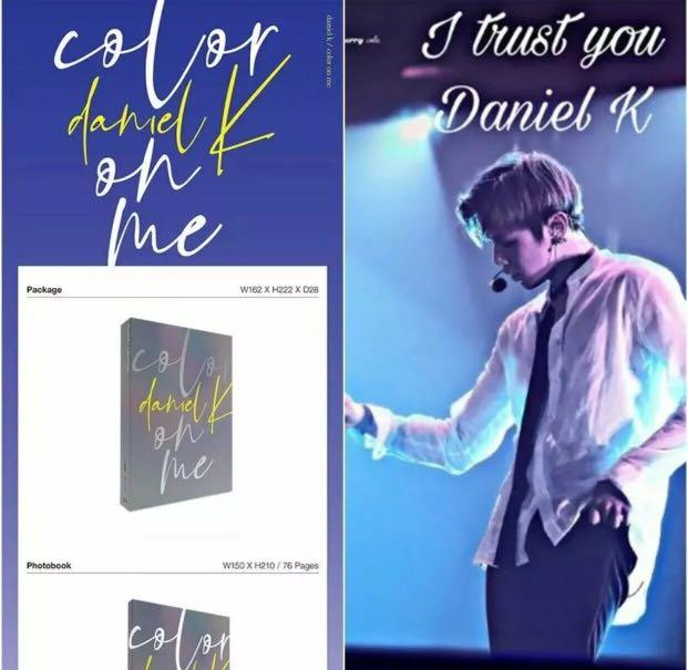 IN STOCK NOW!! 🌈Kang Daniel🌈 1st Mini Album [Color On Me] CD Album -Factory Sealed With Original Contents