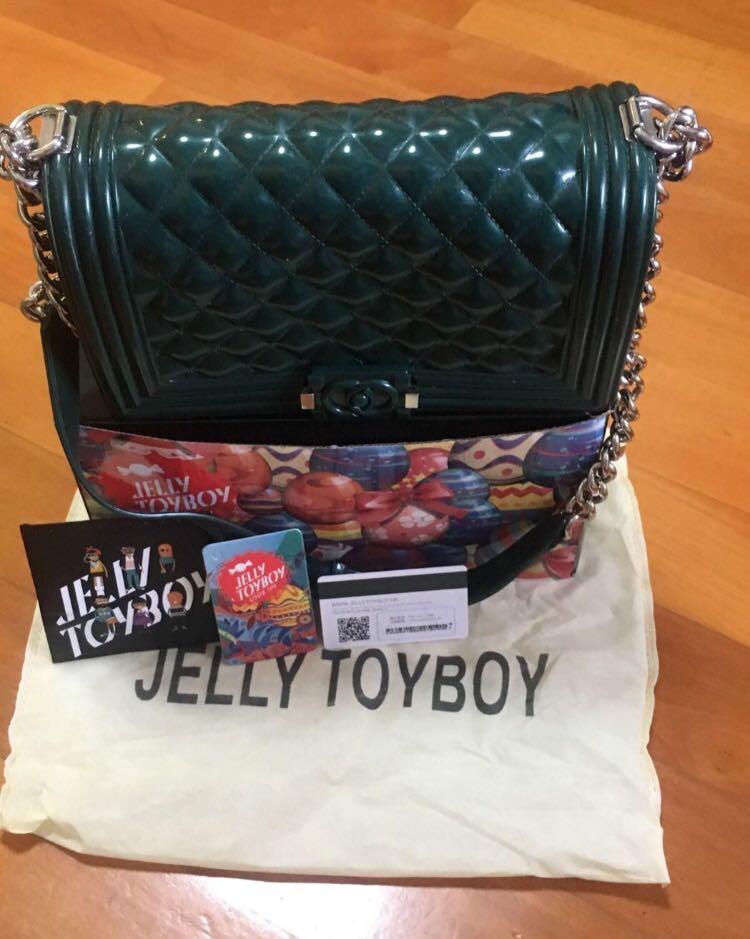 外國購入Jellytoyboy bag Chanel 款手袋、墨綠色、特別、有塵袋有盒。💋❤️👍🏼😁