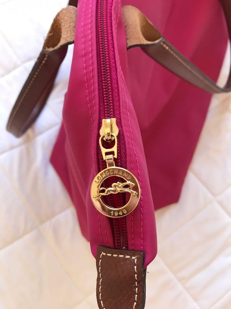 Longchamp 長提把折疊包(大) - 桃紅