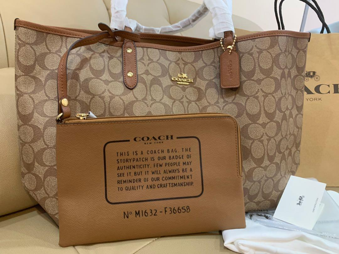 Ready Stock Authentic coach 36658 in dark brown