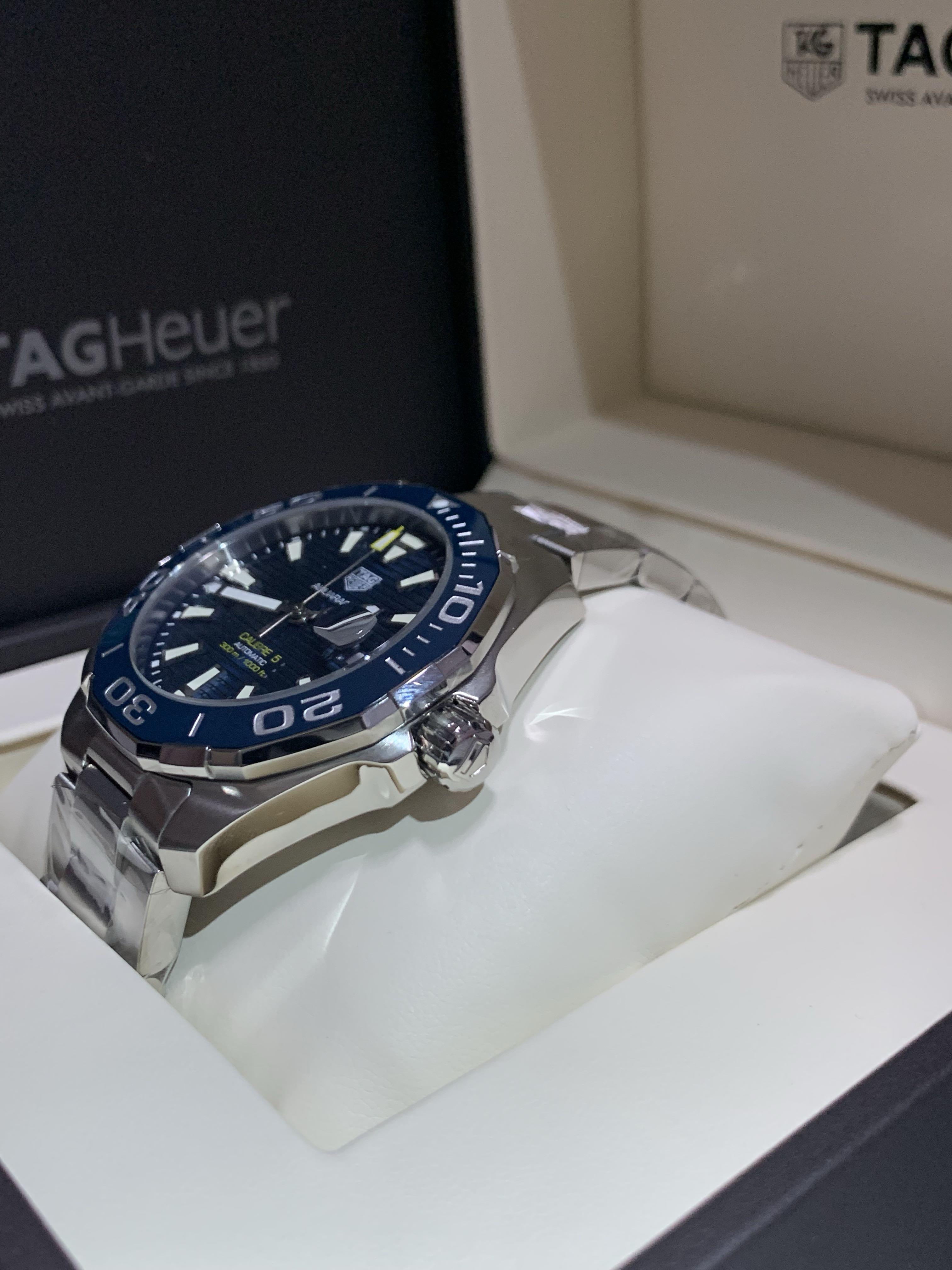 Tag Heuer Aquaracer Blue Dial Automatic Men's Watch, 43mm for Sale