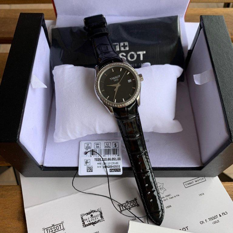 Tissot T-Trend Couturier Women's Watch Black/Leather T035.210.66.051.00