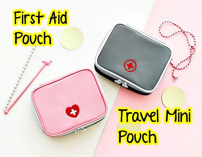 Travel First Aid Pouch / Medicine Mini Pouch